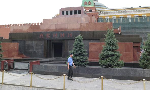 El Mausoleo de Lenin en la Plaza Roja