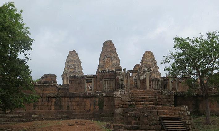 El paso del tiempo es más evidente en el templo de East Mebon