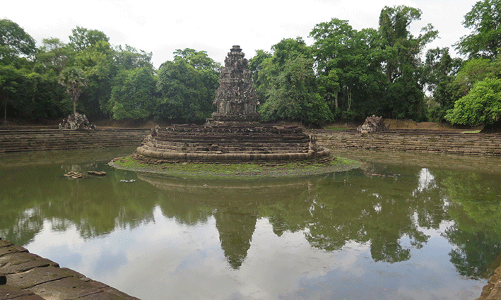 Se creía que agua de Neak Pean tenía propiedades curativas
