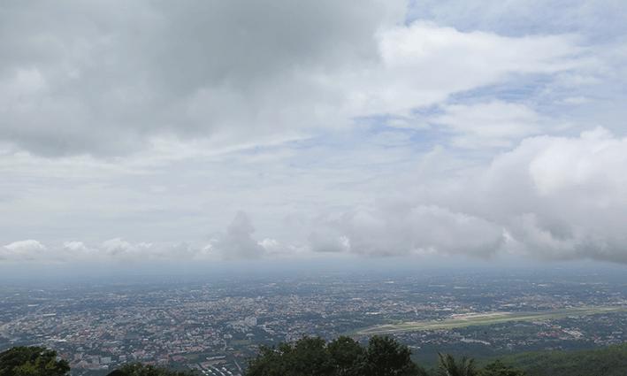 La panorámica de Chiang Mai es completamente diferente a la de Bangkok, la capital del país